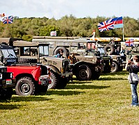 Military Vehicles Parked