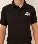 Wings & Wheels Black Polo Shirt - Adult