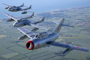 Explosive MiG-15 and Vampire display will rock  Wings & Wheels this August Bank holiday