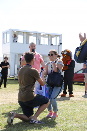 She said yes! Proposal Success at Wings & Wheels